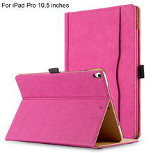 2017 NEW ARRIVAL folio pu leather cover case for iPad pro 10.5 inches with stand function and document wallet pocket