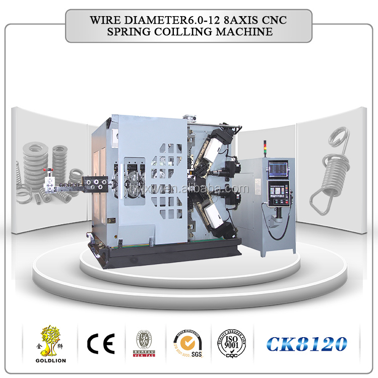CK8140 new design 8 axis CNC spring coiling machine in 2014