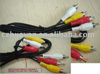 1.5m Assembly 3RCA to 3RCA Cable RGB AV Cable CCA/CCS/CU