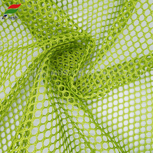 Good price fine polyester green Hole mesh fabric for bag,polyester warp knitted small round mesh fabric