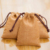 Wholesale Jute Pouch with Cotton Drawstring