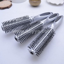 Sale factory promotional gift High quality silver color plastic round Hair brush massage comb