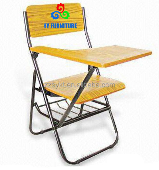 hot sale metal MDF&PVC overstuffed reading room folding chairs for children&students
