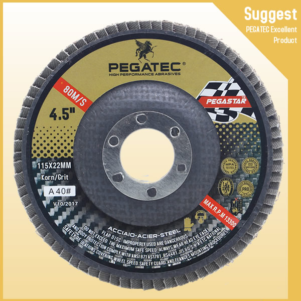 4.5'' 115x22mm China Manufacturers Paint Removal Abrasive Flap Disc