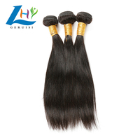 Fast Shipping top quality virgin Indian human hair extension, very fair price virgin straight hair bundles