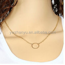 fashion cheap china gold plated iron thin chain necklace