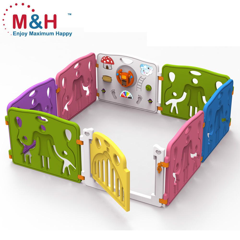 8 panles beb juego valla de seguridad con puerta de - Valla de seguridad infantil ...
