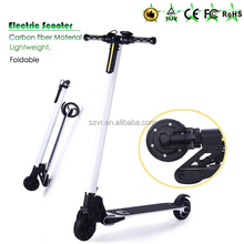 4 hours rechargeable e scooter foldable standing carbon fiber scooter with 2 wheels