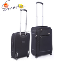 Strong Big Elastic Polyester Suitcase luggage with external wheels