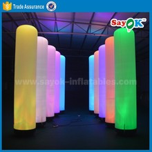 inflatable pillar, inflatable cylinder, inflatable lighting tower for decoration and advertising