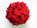 christmas red flower ball for home decoration