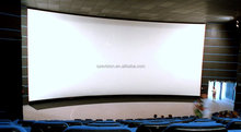 Black velvets 85mm Aluminum frame curved screen / 3D Curved fixed frame projector screen