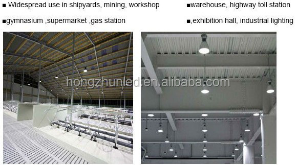 fanctory led light production line 100W die-casting aluminum alloy high bay lamp use for industrial