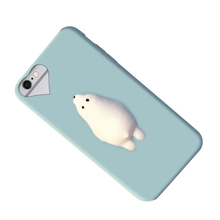 2017 New Arrival Hot Sale Poke Cat Bear Squishy Case for iphone 6s 7 3d animal mobile phone case