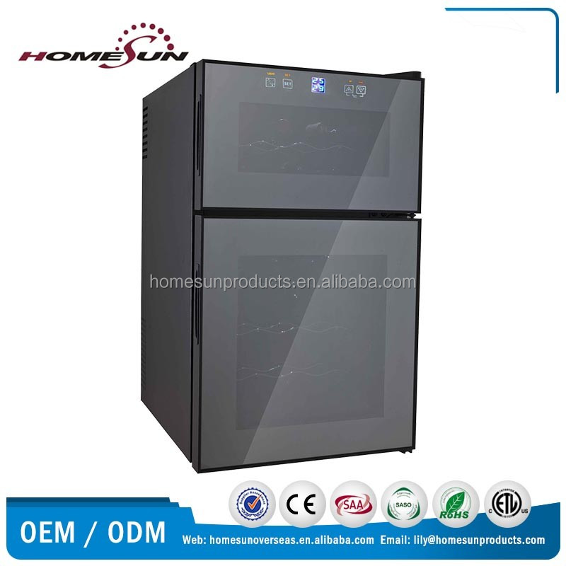 24 bottles dual zone thermoelectric wine cooler