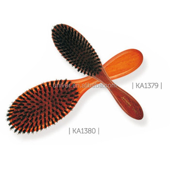 Wooden Handle Massage Paddle Bristle Hair Brush KA1379-KA1380