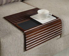 Customize wooden sofa arm tray table/ coffee holder sofa able