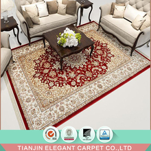 machine made jacquard persian pattern silk viscose carpet