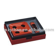 YB-2058B-1 Factory price lighter set, promotional gift smoking sets ashtray