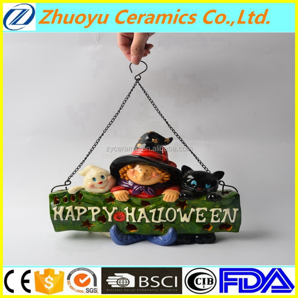 Happy Halloween Ceramic LED Decoration Light