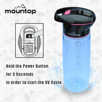 BPA free Plastic 32oz protein shaker uv sterilization sports water bottle for outdoor use