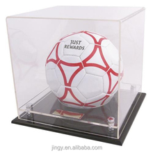 novelty acrylic football display case merchandising display box