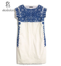 M40639 New design!regional embroidery top with embroidered pattern design M40639 mexican clothing wholesale Dongguan factory
