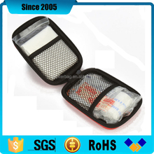 promotion waterproof eva first aid kit box with mesh pocket