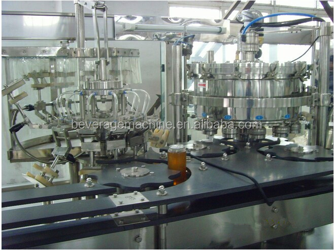New design water/soft drinks glass bottle filling machine