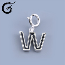 E italy silver jewelry alphabet charms wholesale