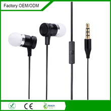 2015 Newest fashionable good quality in-ear earphone with flat cable