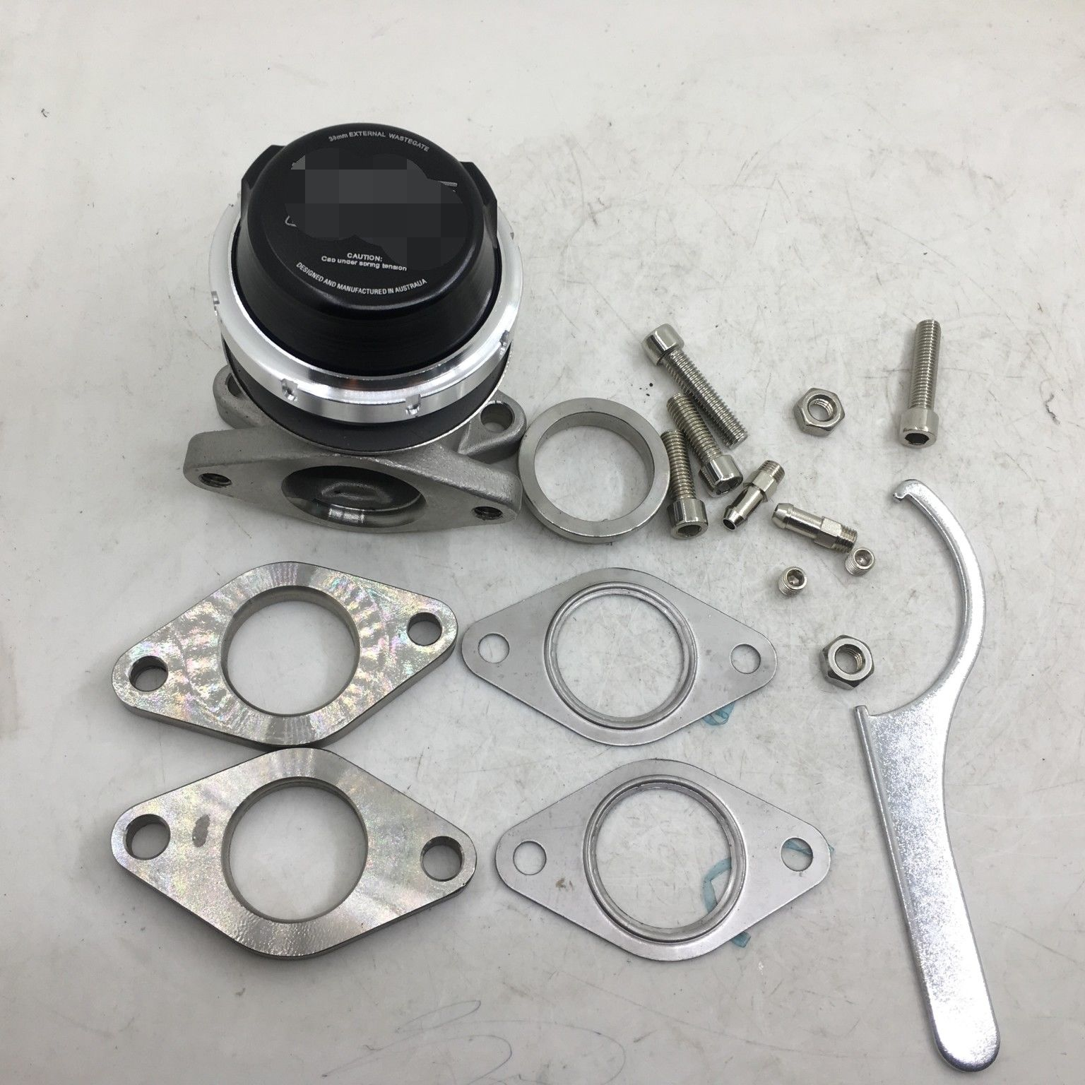Turbo Smart model 38mm <strong>External</strong> <strong>Wastegate</strong> Turbo WG38 7 PSI Spring Black Boost