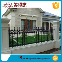 Yishujia easily assembled powder coated decorative used wrought iron fence
