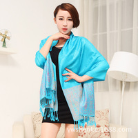Large folk style retro fringed shawl and air-conditioned high-grade cotton warm sun shawl