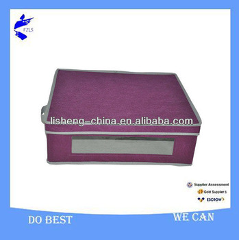 Household Foldable Storage Box With Lid