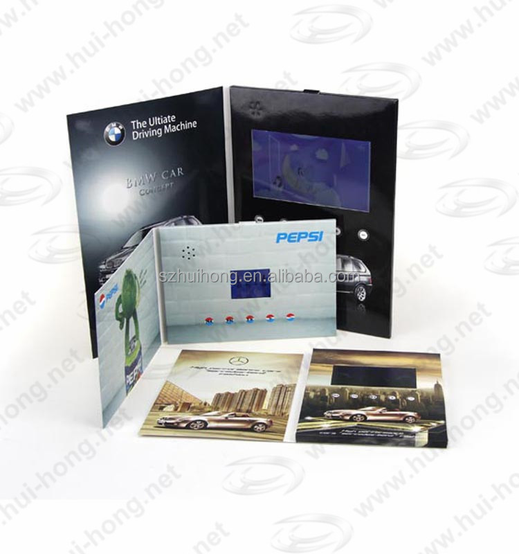 2.4 inch 4.3 inch 7 inch factory price lcd video brochure