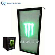 LED Display Glass Doorfor Refrigerator/beverage Cooler LED Light Glass Door