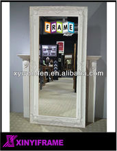 Wooden White New Design Large Carved Mirror Frame