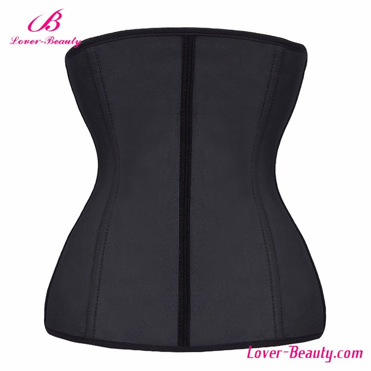 Top Sale Black 9 Steel Boned Women Latex Waist Trainer