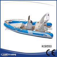 Gather New Style PVC Competitive Price 4 person large inflatable boat