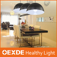 House lighting beautiful ceiling pendant lights black aluminum body led modern chandelier lamps