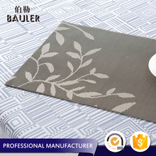 Top Quality New Design Jacquard Woven Vinyl PVC Table Plate Mat