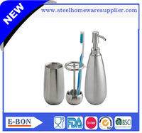 High quality stainless steel polyresin bathroom accessories set