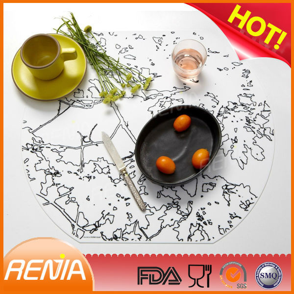 rubber shape mat table placemats oval placemats