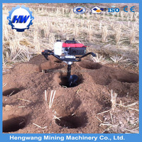 4 stroke gasoline earth auger/ hole Digging Machine/ground Hole Drilling Machines