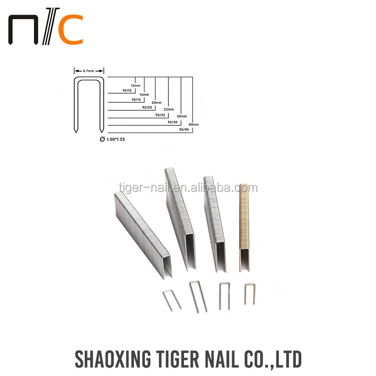 High Quaility Silver color stainless steel staple