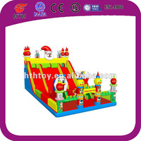 Exciting christmas giant inflatable fun city with slide