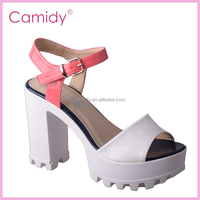 new arrival guangzhou wholesale ladies high heel platform sandal shoes
