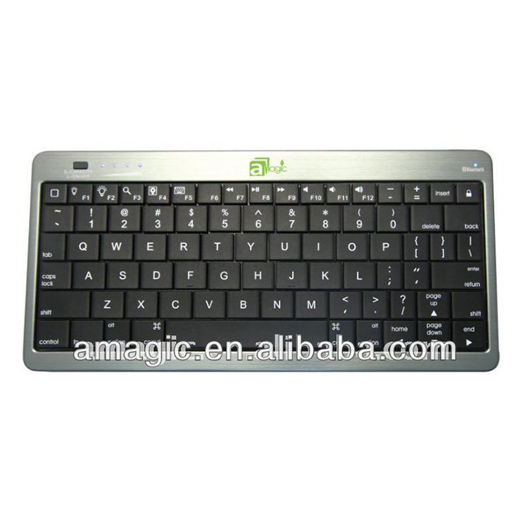 aMagic Portable BT wireless keyboard with 10000mAh emergency power for iPad,tablet