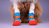 Lanle dog boots socks blue and red cartoon pet socks shoes
